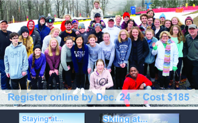 Youth and Young Adult Ski Trip, January 24-16 at Winterplace Ski Resort