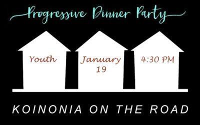 Koinonia on the Road – Youth Progressive Dinner
