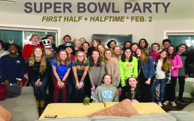 Youth Super Bowl Party, February 2 from 6:00 p.m. until halftime at the Engel's home.
