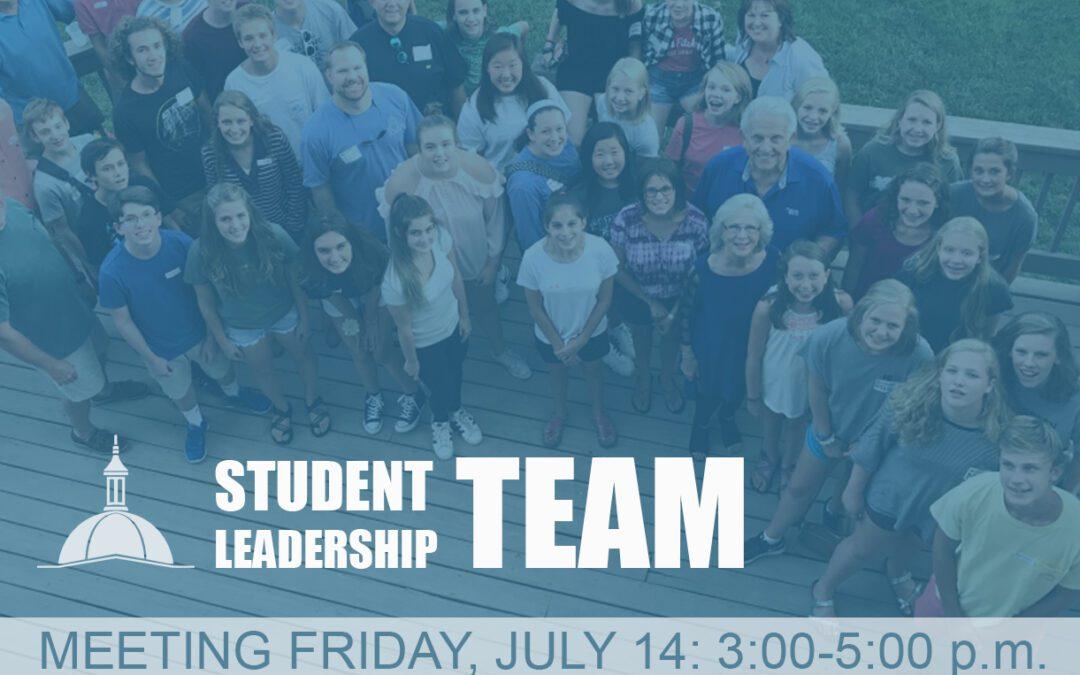 Student Leadership Team Meeting