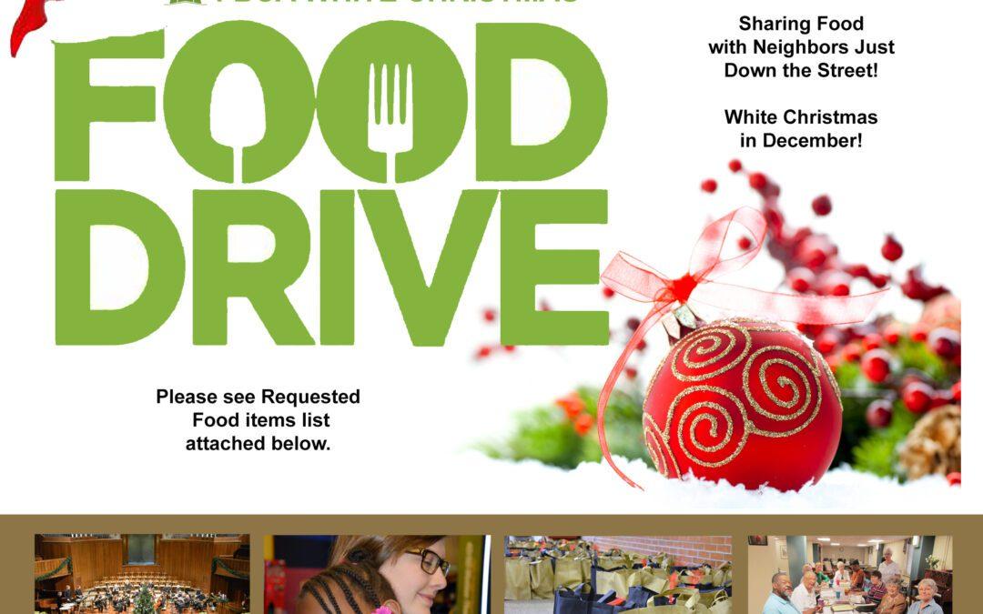 Food Drive – White Christmas