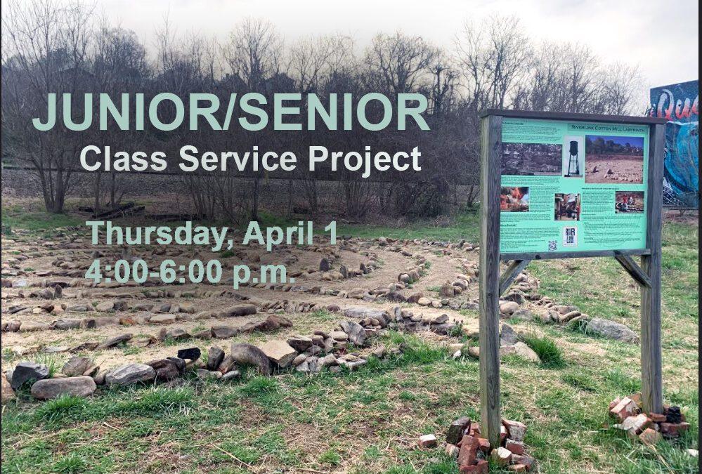 Junior/Senior Class Service Project